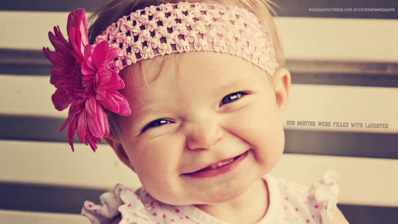 Cute Baby Girl Image Wallpaper Smile Christian Wallpapers