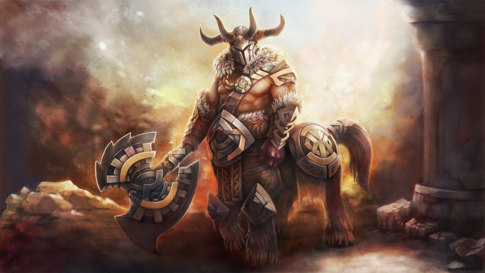 Dota 2 3d Wallpaper For Pc Centaur Warrunner Unbroken Stallion Dota 2 Online Strategy