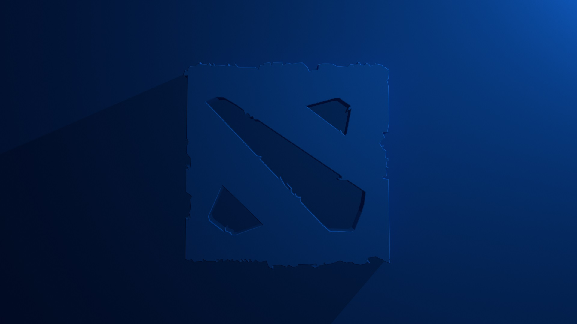 3d Animation Wallpaper Hd Dota 2 Logo Blue Background Desktop Photos Wallpapers
