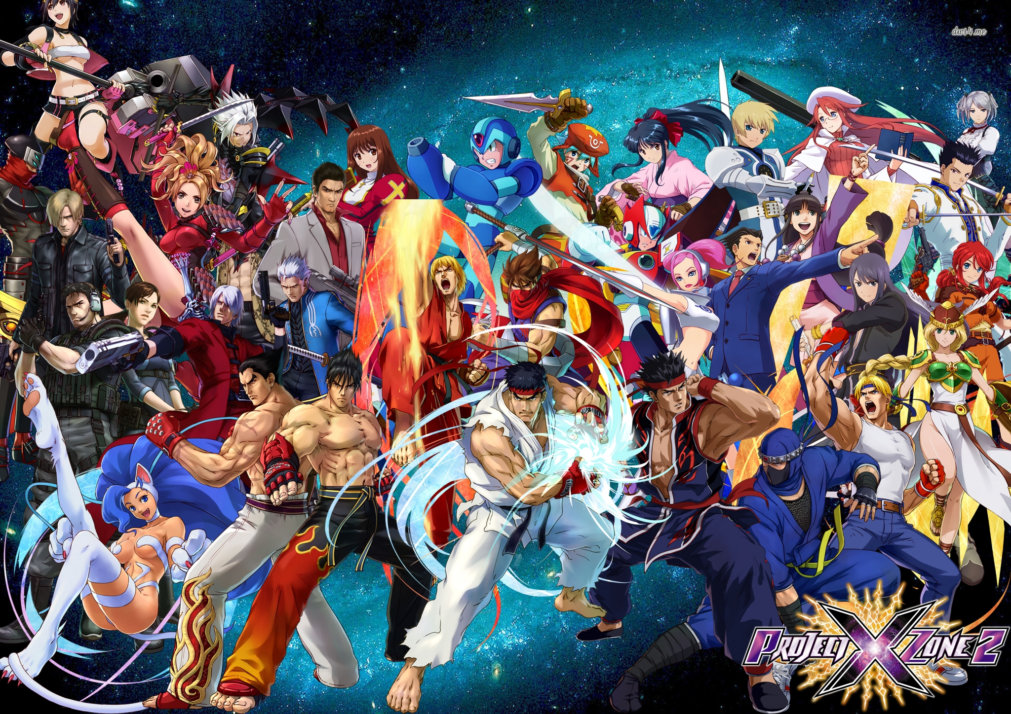 3d Classroom Wallpaper Project X Zone 2 Hd Wallpapers Free Download