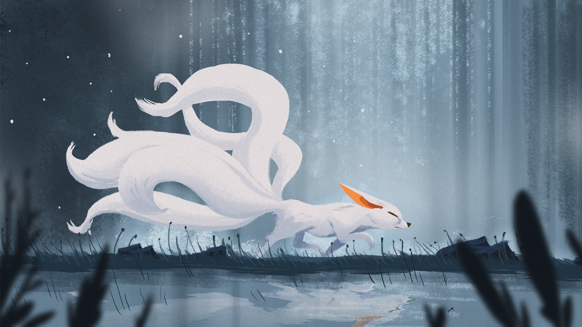 Kitsune Girl Hd Wallpaper Nine Tails Wallpapers 52 Pictures