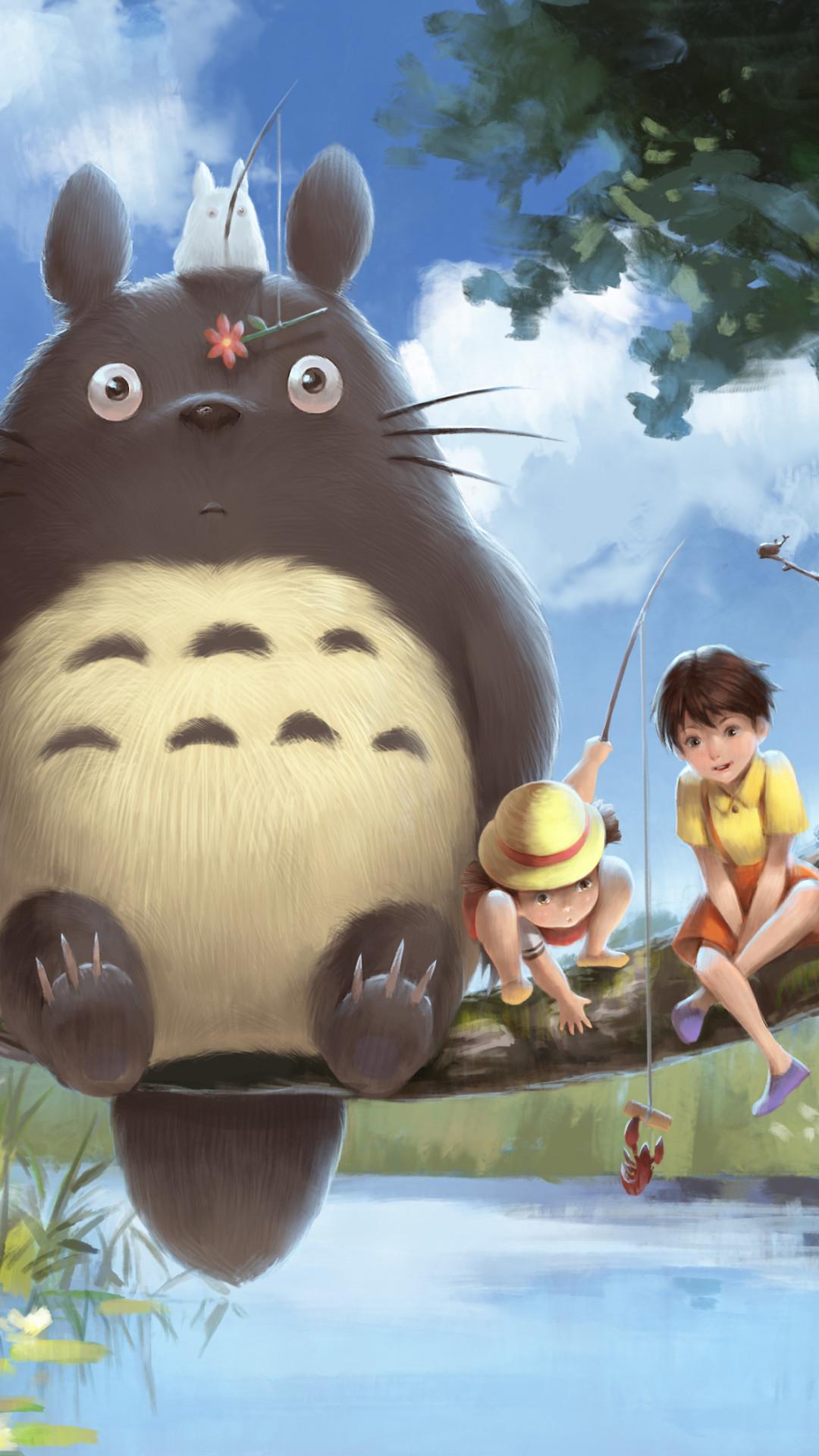 Cute Totoro Wallpaper My Neighbor Totoro Wallpaper 64 Pictures