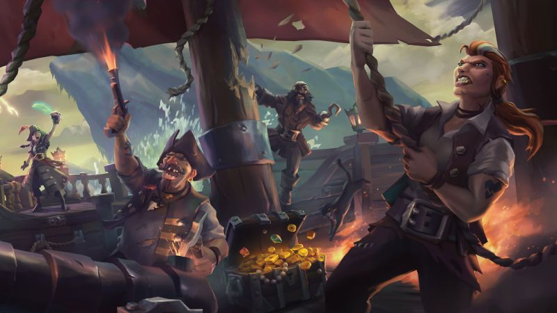 1440p Wallpaper Girls Wallpaper Sea Of Thieves 4k E3 2017 Screenshot Games