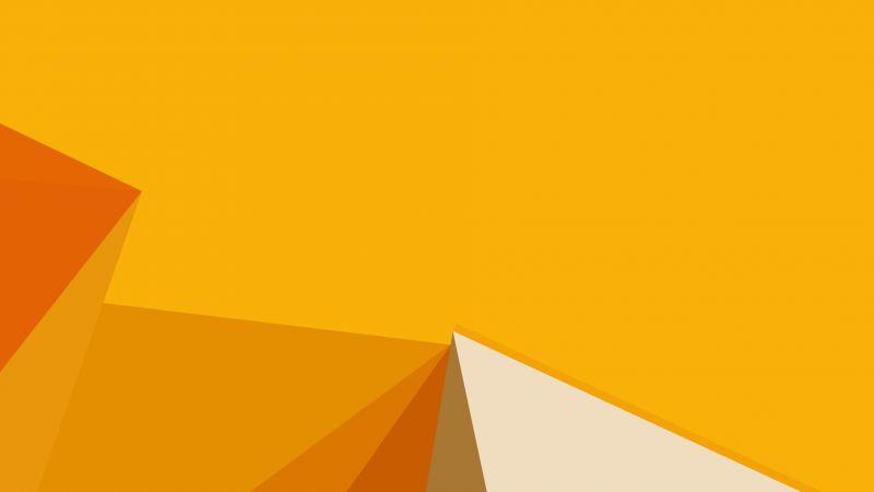 3d Cube Wallpaper Wallpaper Polygon Yellow 4k Os 15376