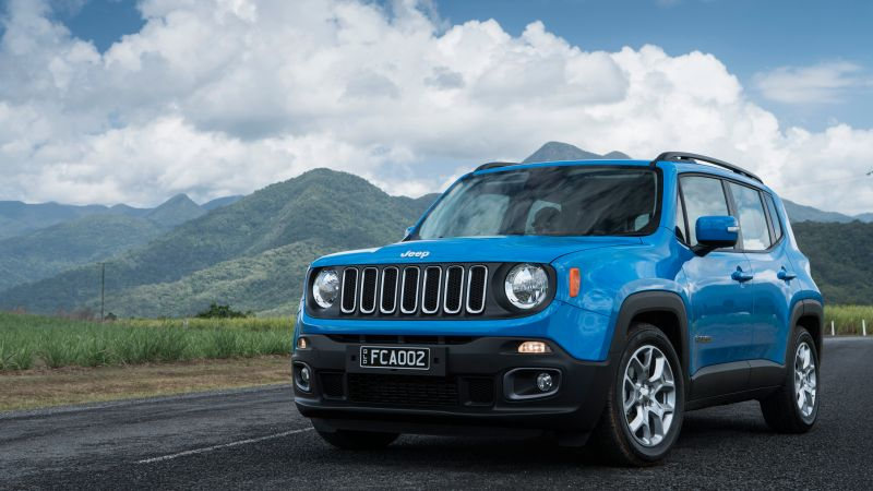 Muscle Car Phone Wallpaper Wallpaper Jeep Renegade Longitude Blue Suv Cars Amp Bikes