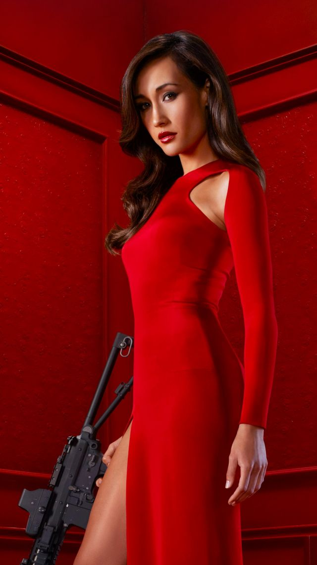 Cool Space Iphone Wallpaper Wallpaper Maggie Q Red Dress L Ook Most Popular Celebs