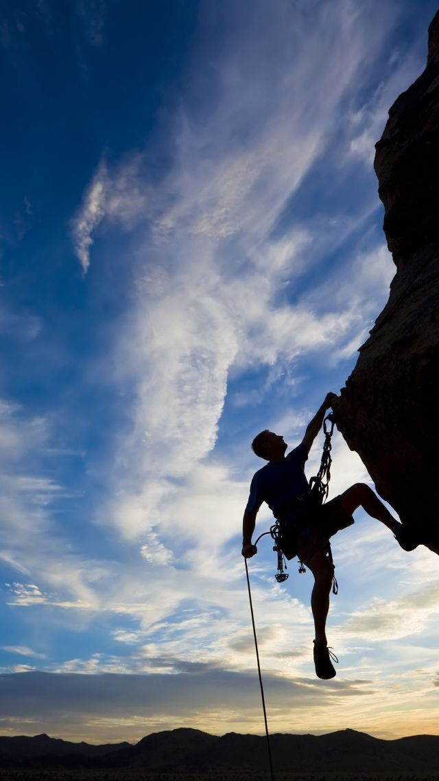 Sports Quotes Android Wallpaper Wallpaper Climber Extreme Silhouette Climbing Rock