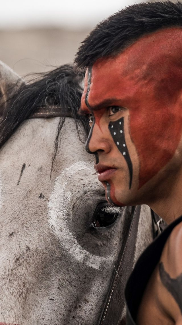 Abstract Girl Face Wallpaper Wallpaper The Magnificent Seven Martin Sensmeier Indian