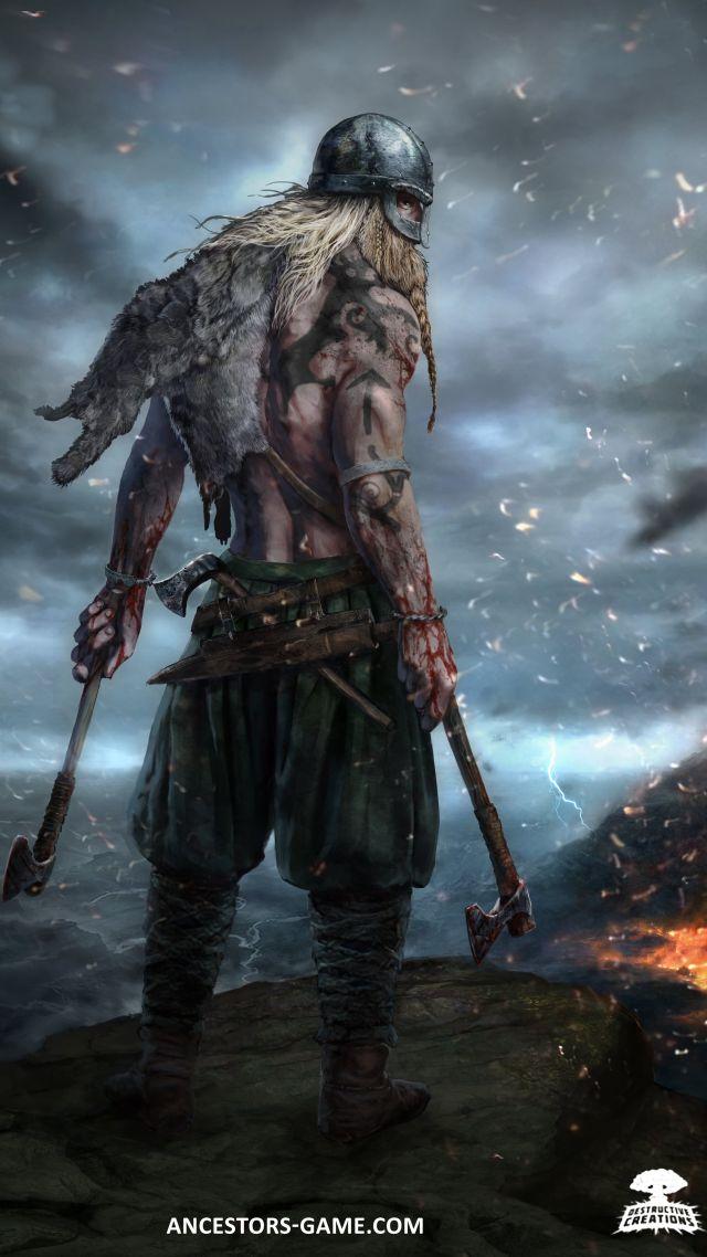 Vertical Wallpaper Hd Wallpaper Ancestors Viking Best Strategy Games Games 13472