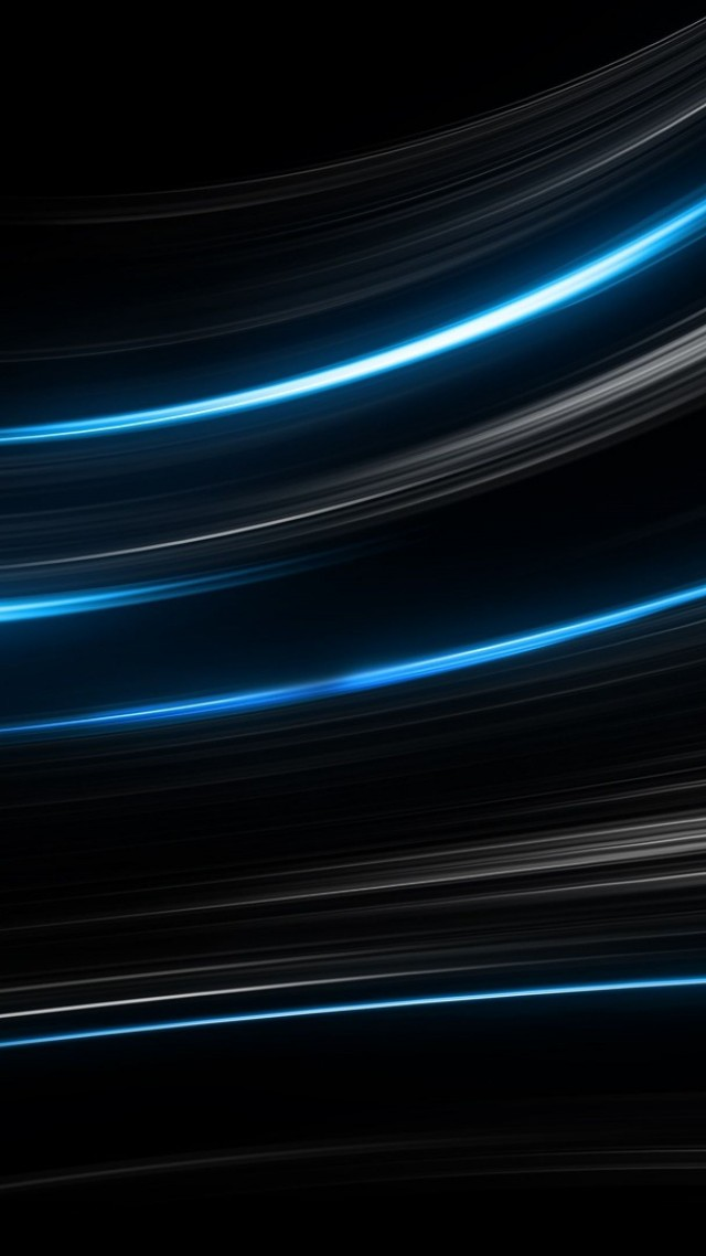 Android 3d Wallpaper Effect Wallpaper Lines Black Blue 4k Os 15378