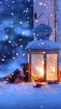 Wallpaper snow, lamp, winter, 4k, Stock Images #16775