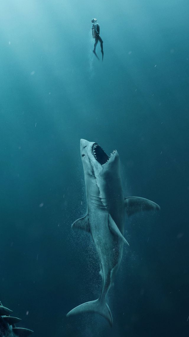Tech 3d Free Live Wallpaper Wallpaper The Meg Shark 4k Movies 17983