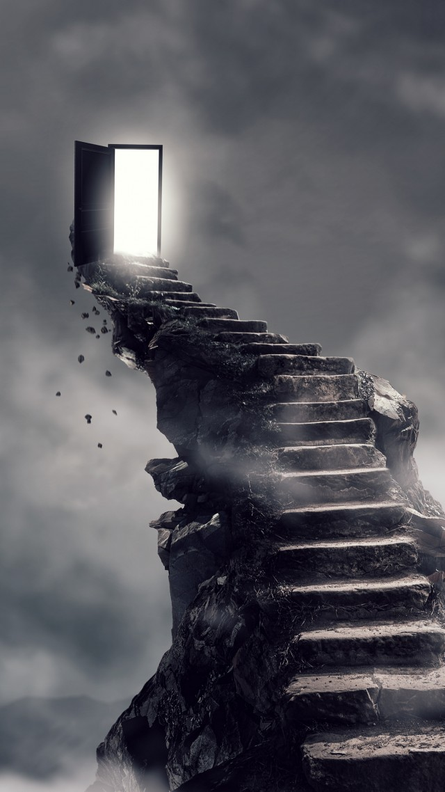 Us Military Wallpaper Quotes Wallpaper Stairs Surrealism Dark 4k Art 18611