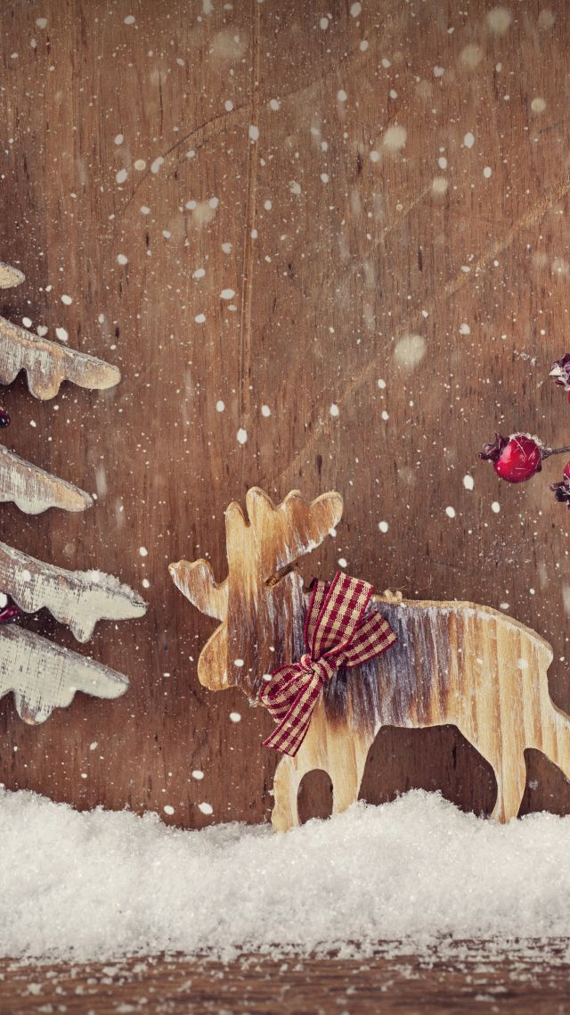 Home Screen Wallpaper With Quotes Wallpaper Christmas New Year Deer Fir Tree Elk