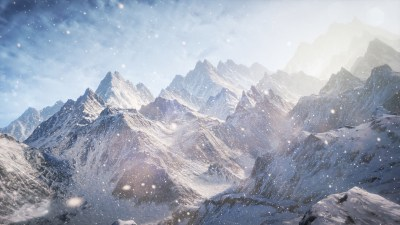 Wallpaper 3D, 5k, 4k wallpaper, 8k, Mountains, snow, clouds, Nature #5255