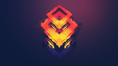 Wallpaper abstract, polygon, 4k, 5k, iphone wallpaper, android wallpaper, orange, red, OS #12740