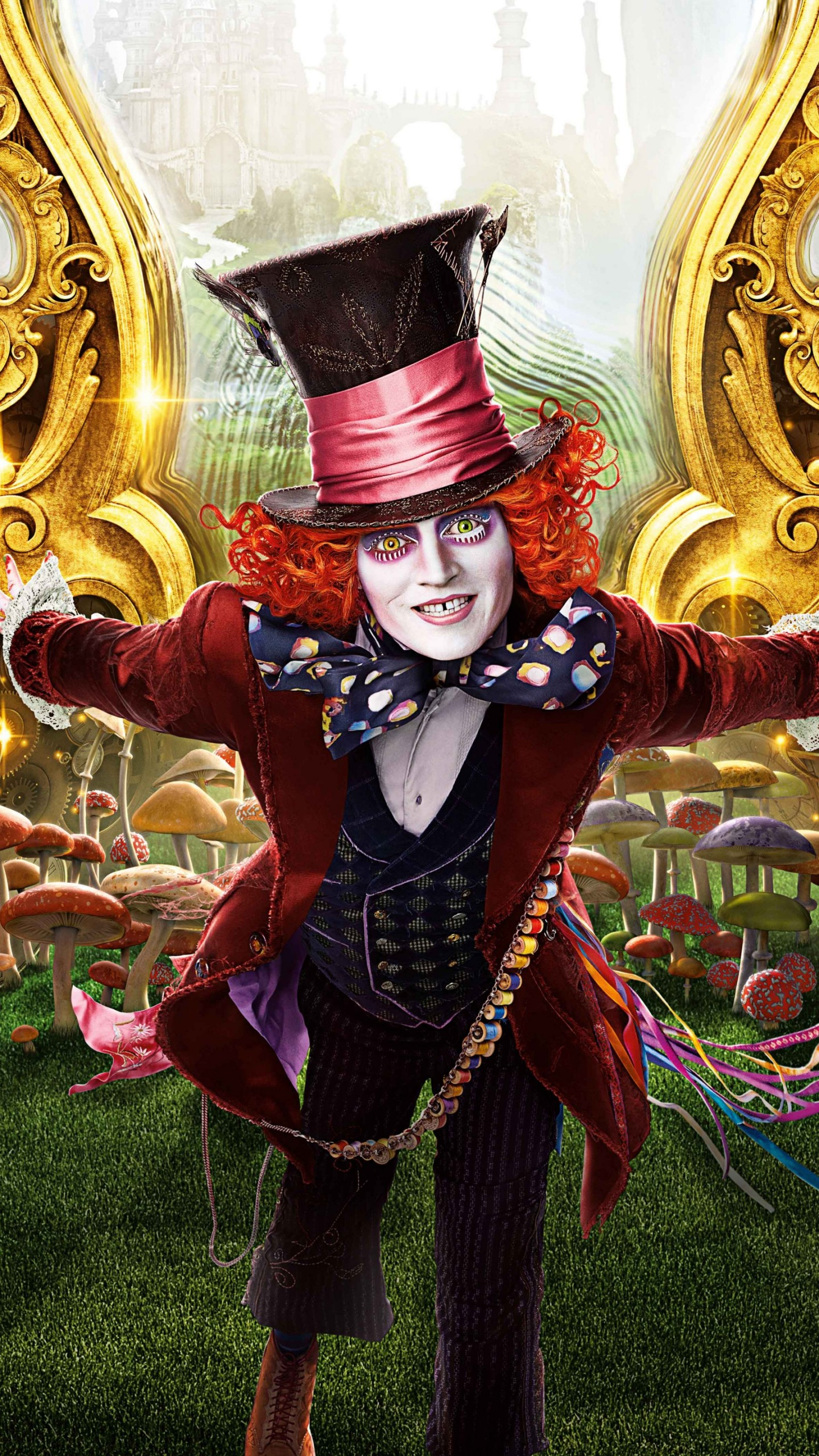 Alice In Wonderland Wallpaper Quotes Cheshire Cat Wallpaper Alice Through The Looking Glass Jonny Depp