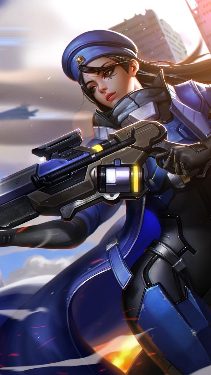 Girl Soldier Wallpaper Wallpaper Ana Hd Overwatch Fan Art Games 13591
