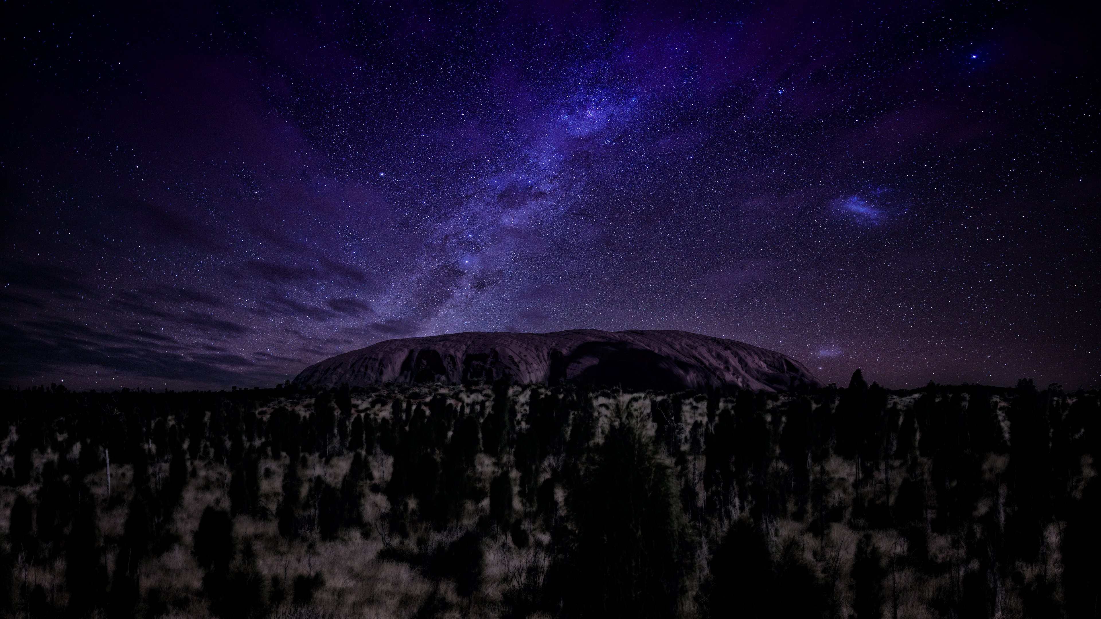 Alien Desktop Wallpaper Hd Wallpaper Ayers 5k 4k Wallpaper Mountains Night Stars