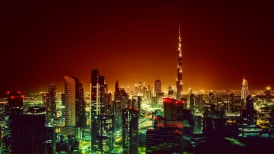 Wallpaper Burj Khalifa, Dubai, Cityscape, Night, 4K ...