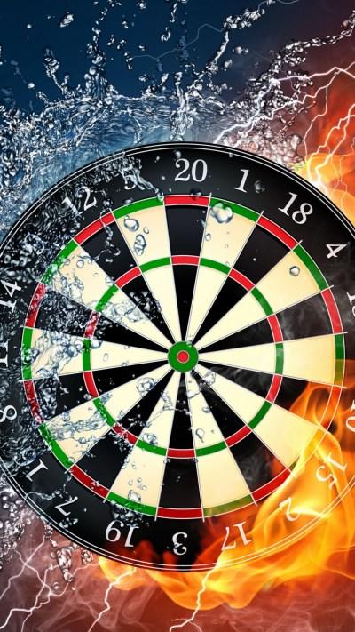 Wallpaper darts, 4k, 5k wallpaper, HD, wheel, target, fire, water, OS #561