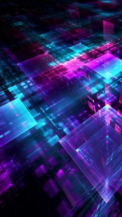 Wallpaper digital, geometric, cube, lines, 3D, 5K, Abstract #18926