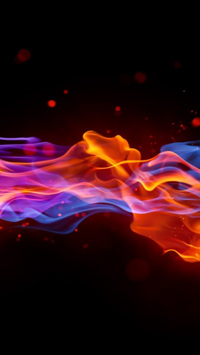 Wallpaper fire, 4k, 5k wallpaper, blue, red, violet, background, Abstract #288