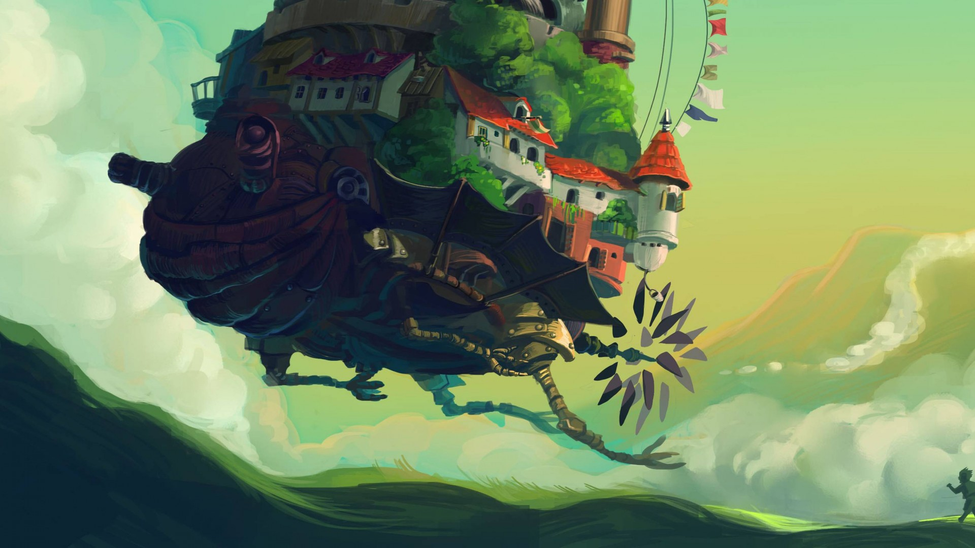 Cute Minimalistic Wallpapers Wallpaper Howl S Moving Castle Turnip Head Meadow Anime