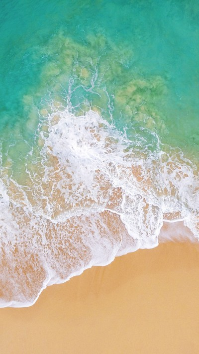 Wallpaper iOS 11, 4k, 5k, beach, ocean, OS #13655