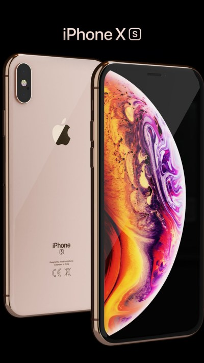 Wallpaper iPhone XS, iPhone XS Max, gold, smartphone, 4k, Apple September 2018 Event, Hi-Tech #20346