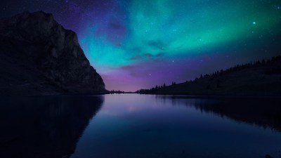 Wallpaper Lake Aurora, 4k, HD wallpaper, Florida, night, sky, stars, OS #12771