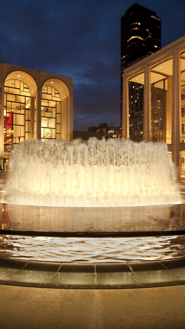 Wallpaper Of Water Fall Wallpaper Lincoln Center For The Performing Arts New York