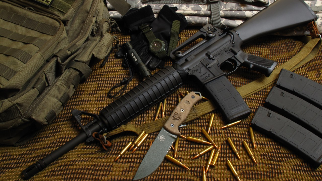Download Cool Quotes Wallpapers Wallpaper M16 Rifle M16a1 M4a1 U S Army Bullets
