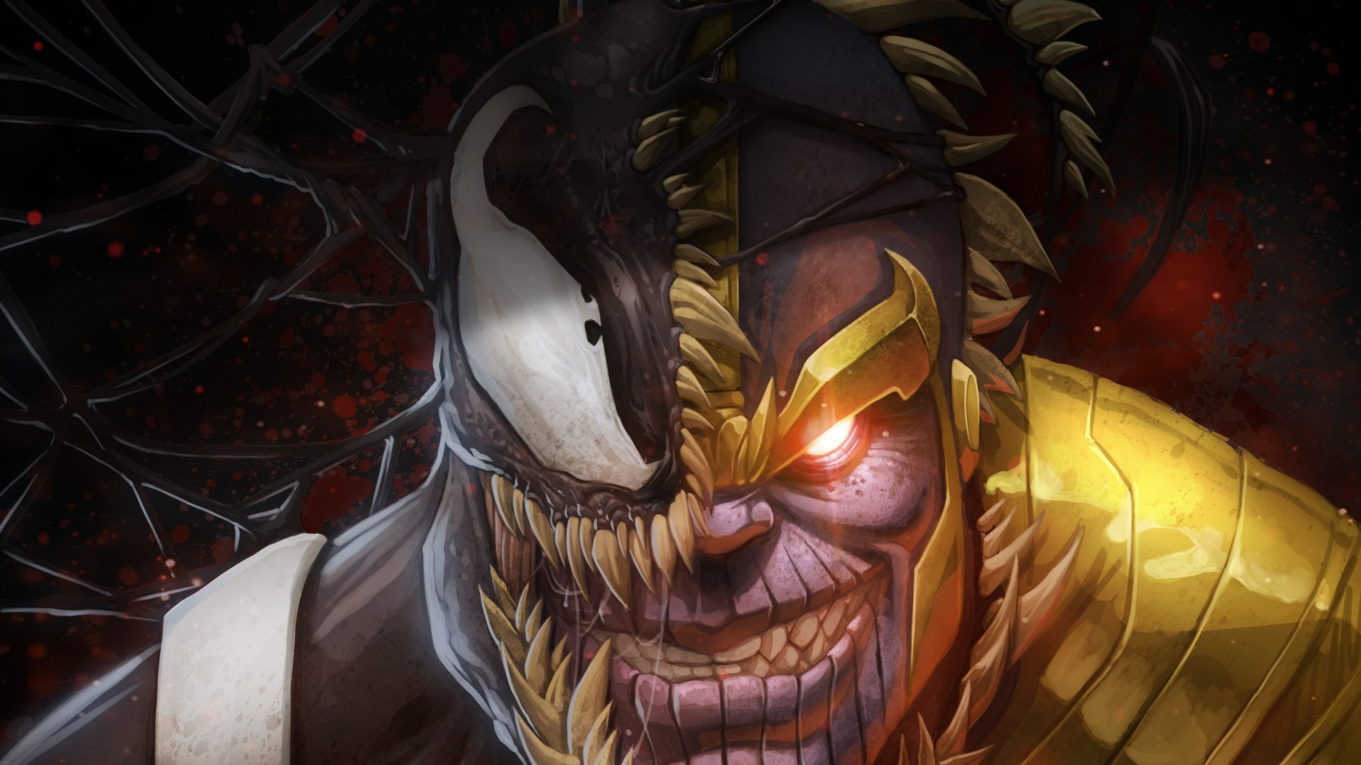 Anime Girl Drawing Wallpaper Wallpaper Marvel Comics Thanos Venom 4k Art 18498