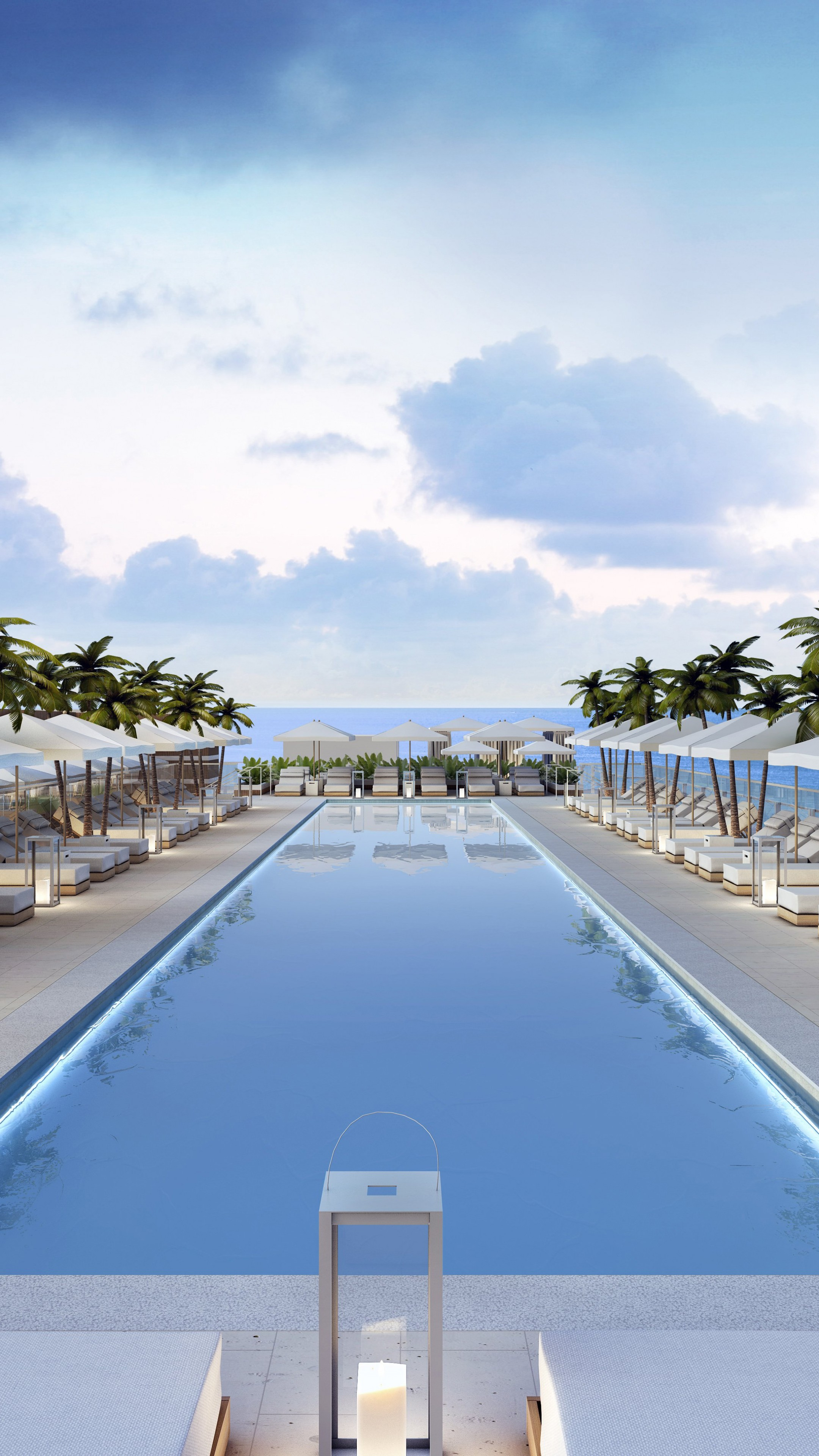 Swimming Wallpaper Quotes Wallpaper Miami South Beach Hotel Pool Sunbed Water