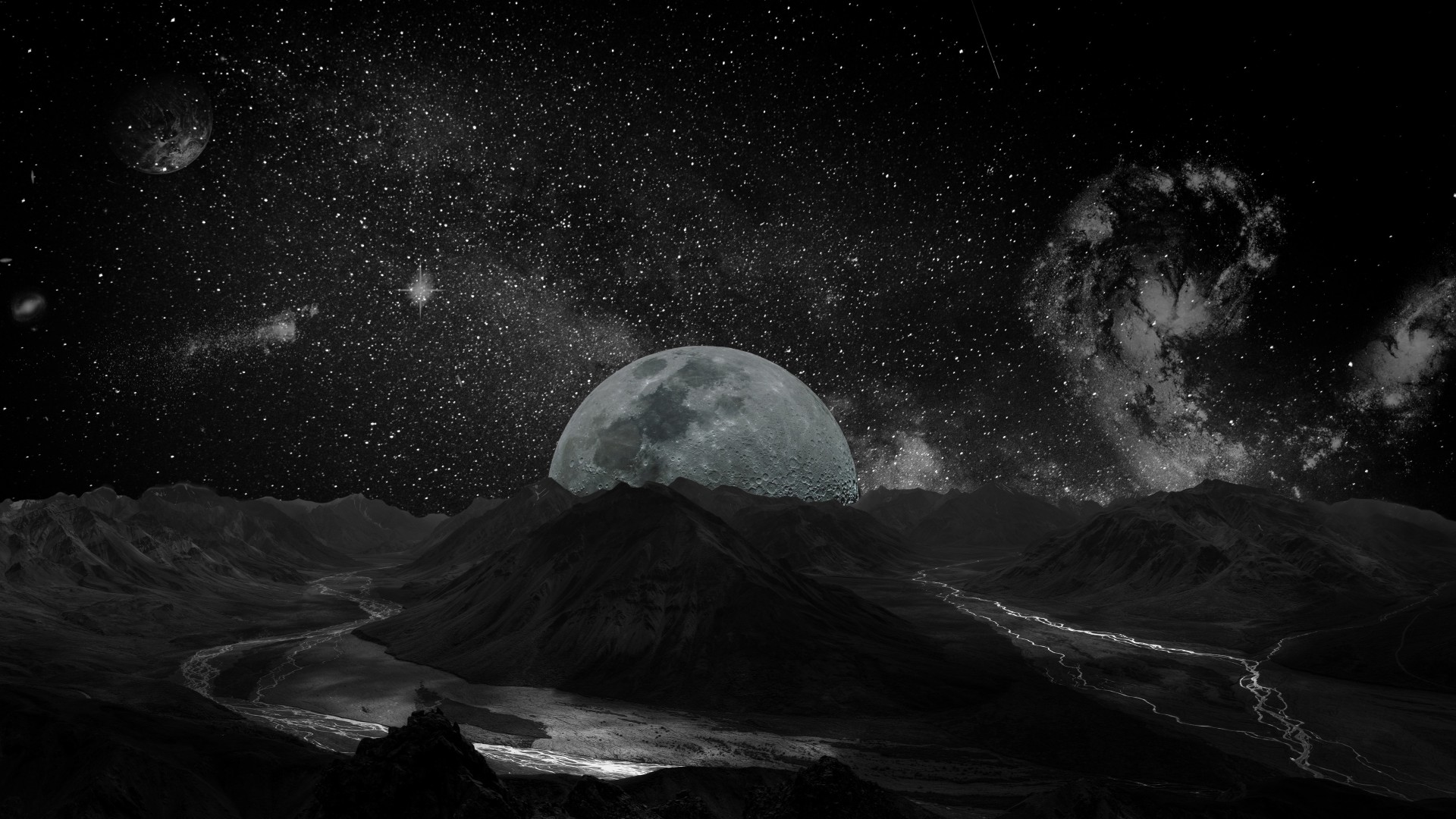 Wallpapers Of Cool Girls Wallpaper Moon Planet Space Milky Way 5k Space 17041