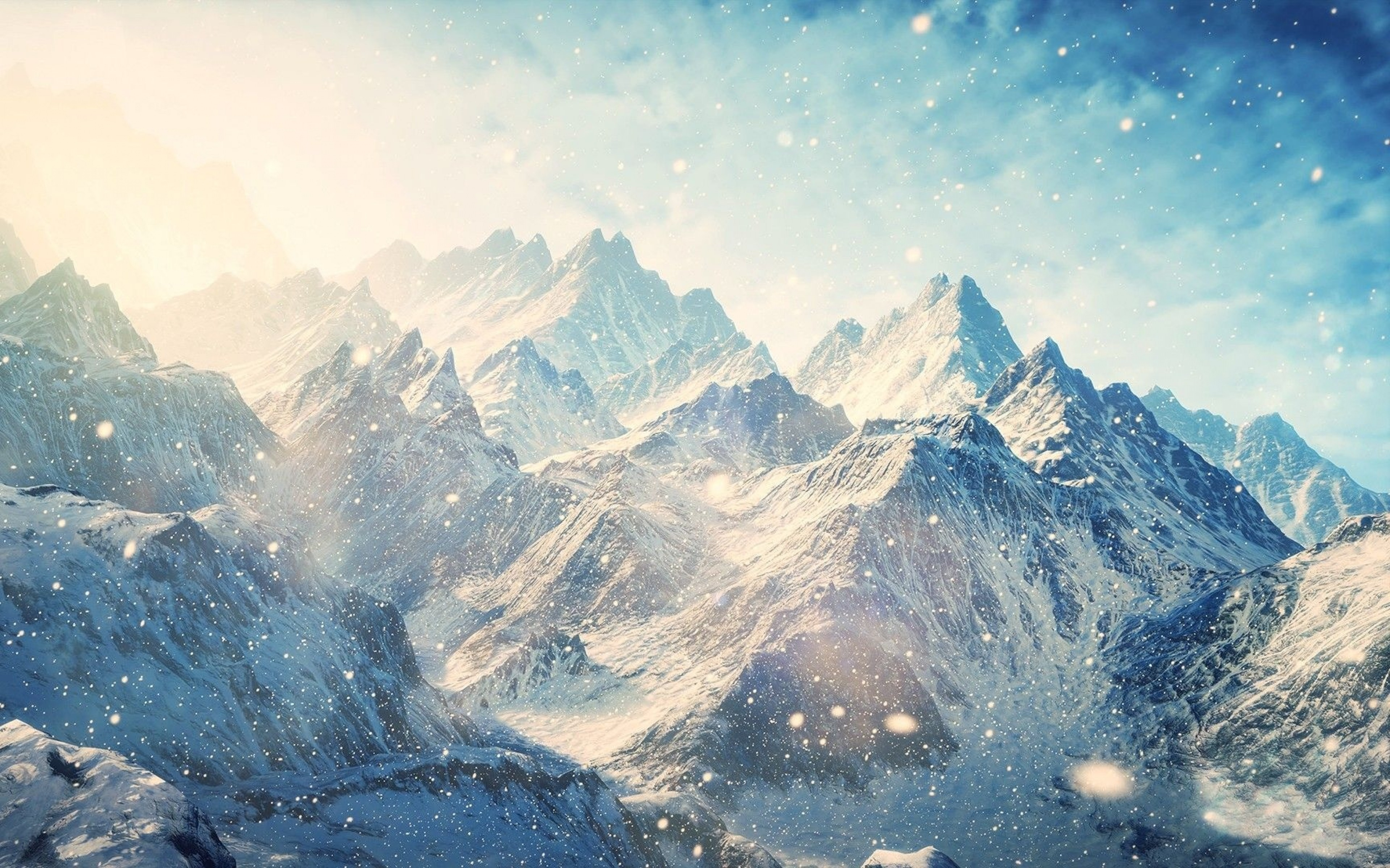 Hd Nature Wallpaper For Android Phone Wallpaper Mountains Snow Winter 4k Nature 17093