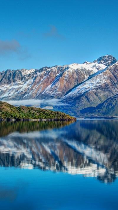Wallpaper New Zealand, Mountain, 4k, HD wallpaper, Lake, sea, water, sky, reflection, landscape ...