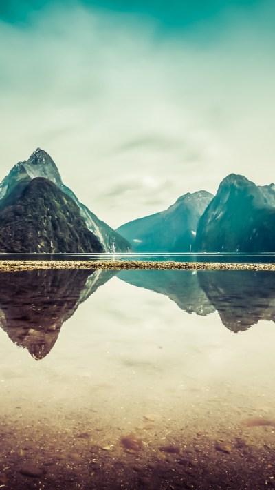 Wallpaper New Zealand, 5k, 4k wallpaper, milford, mountains, river, lake, OS #5352