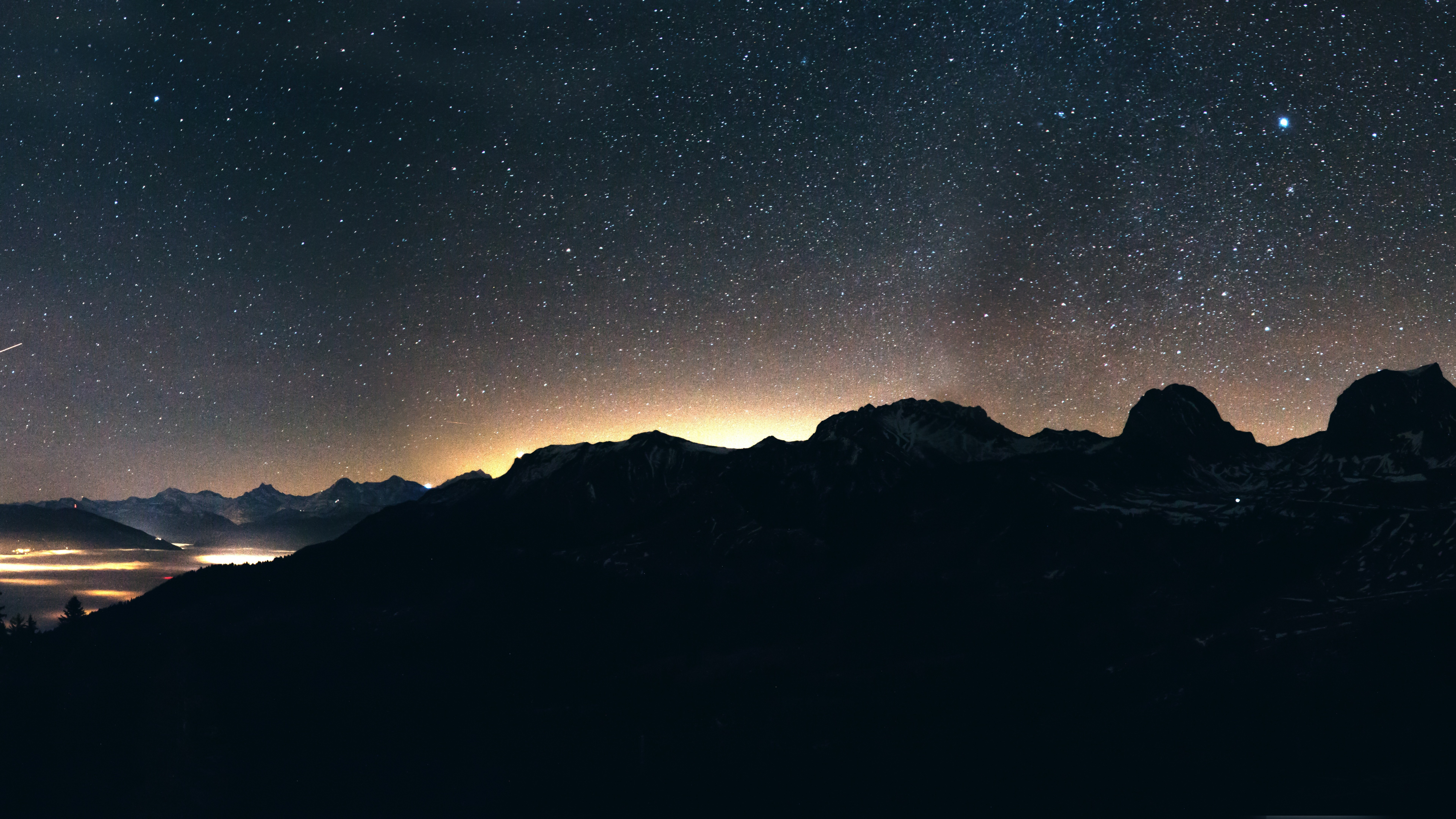Cool Quotes Wallpapers For Pc Wallpaper Night Sky Mountains 8k Nature 17040