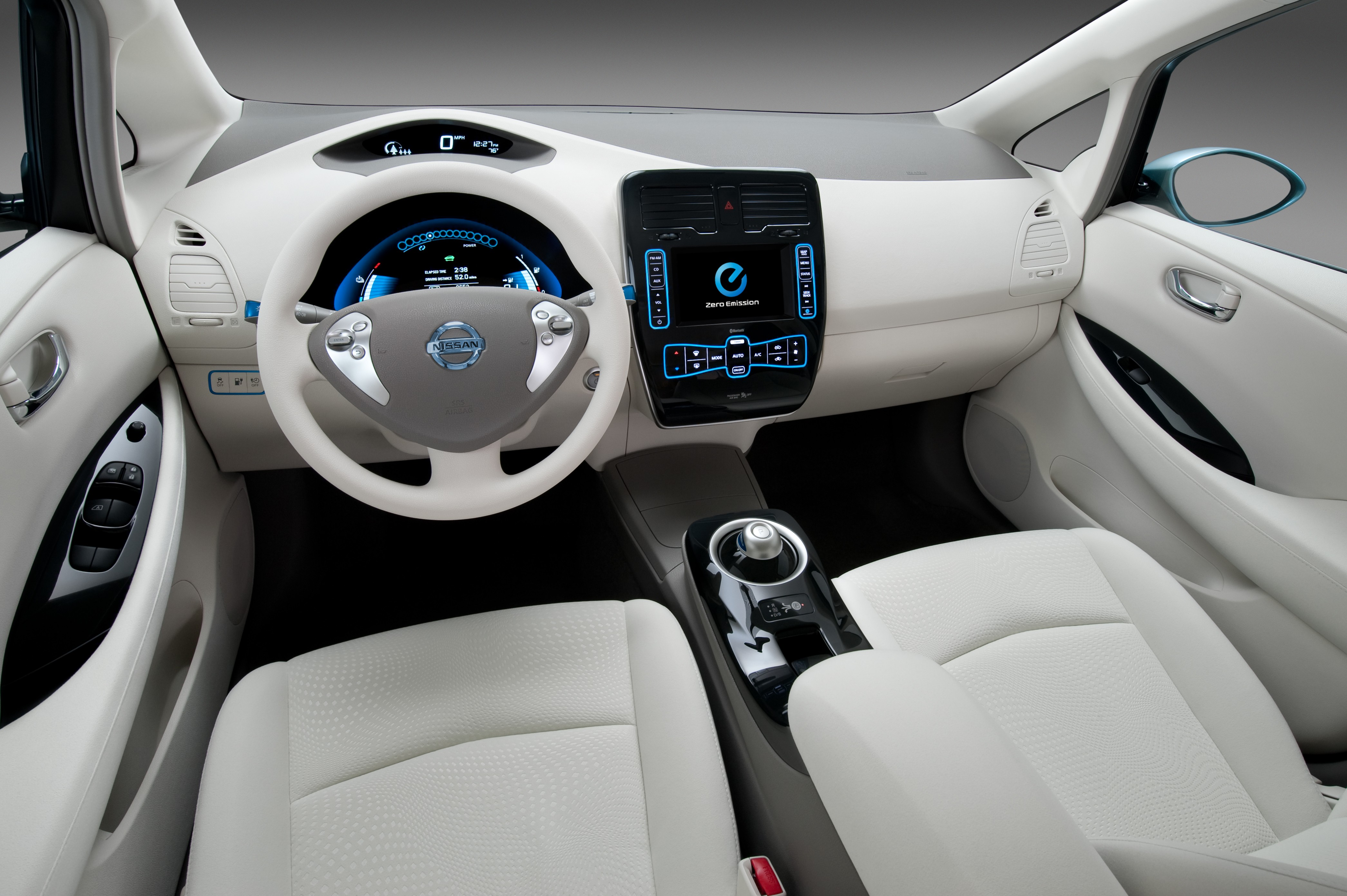 Cool Car Pc Wallpapers Wallpaper Nissan Leaf Electric Cars Nissan Interior
