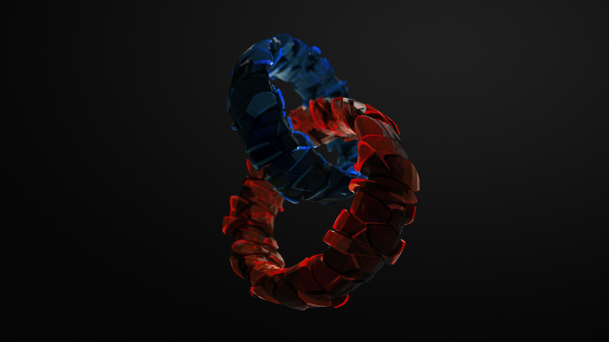 Wallpapers Girls Gamer Wallpaper Rings 3d Blue Red Glass Hd Abstract 16366