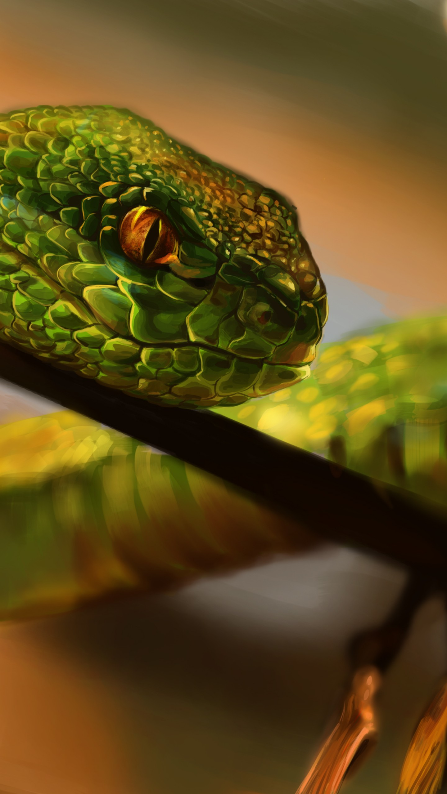 Snake Eyes Hd Wallpapers Wallpaper Snake Green Reptile Eyes Art Animals 712