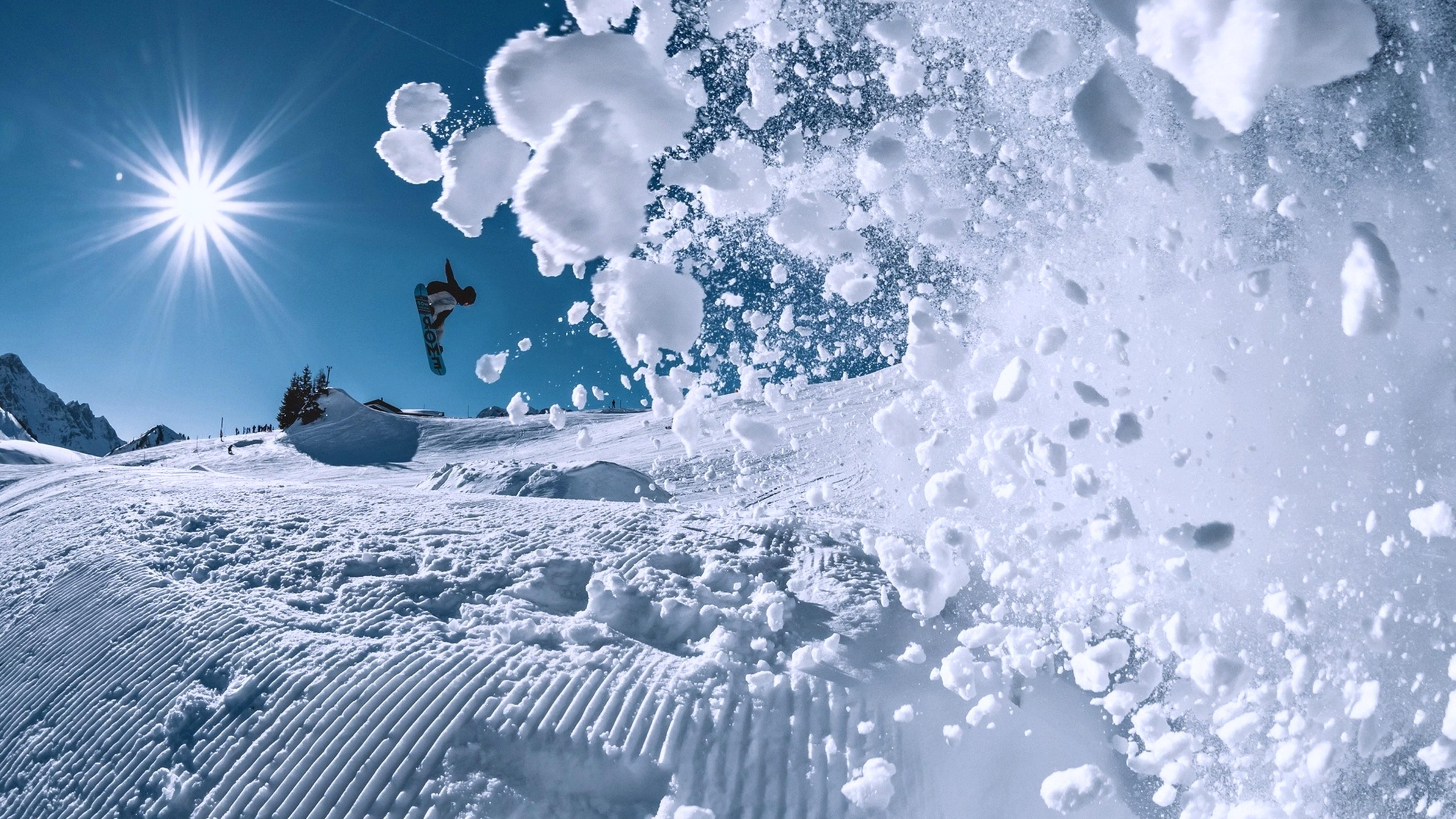 3840x2160 Wallpaper Cars Wallpaper Snowboarding Winter Snow 4k Sport 17399