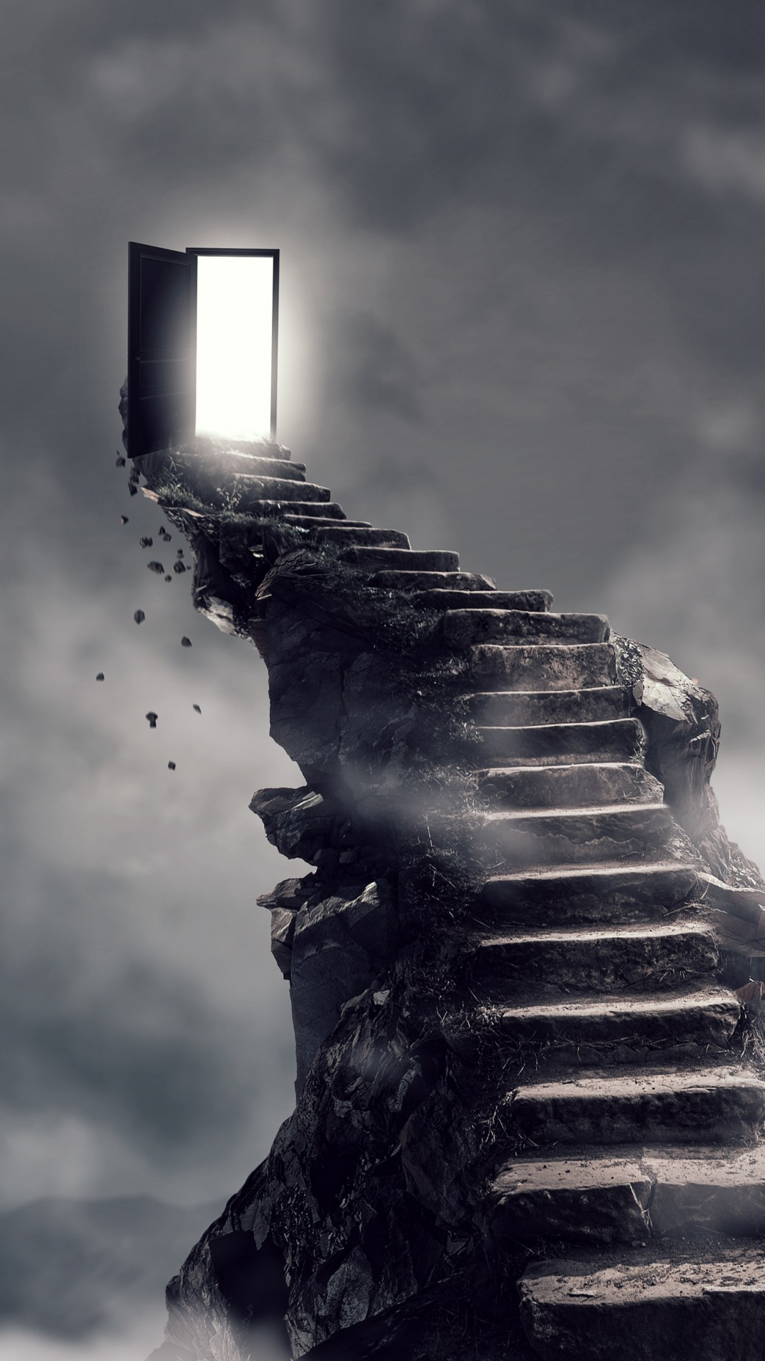 Rich Quotes Wallpaper Wallpaper Stairs Surrealism Dark 4k Art 18611