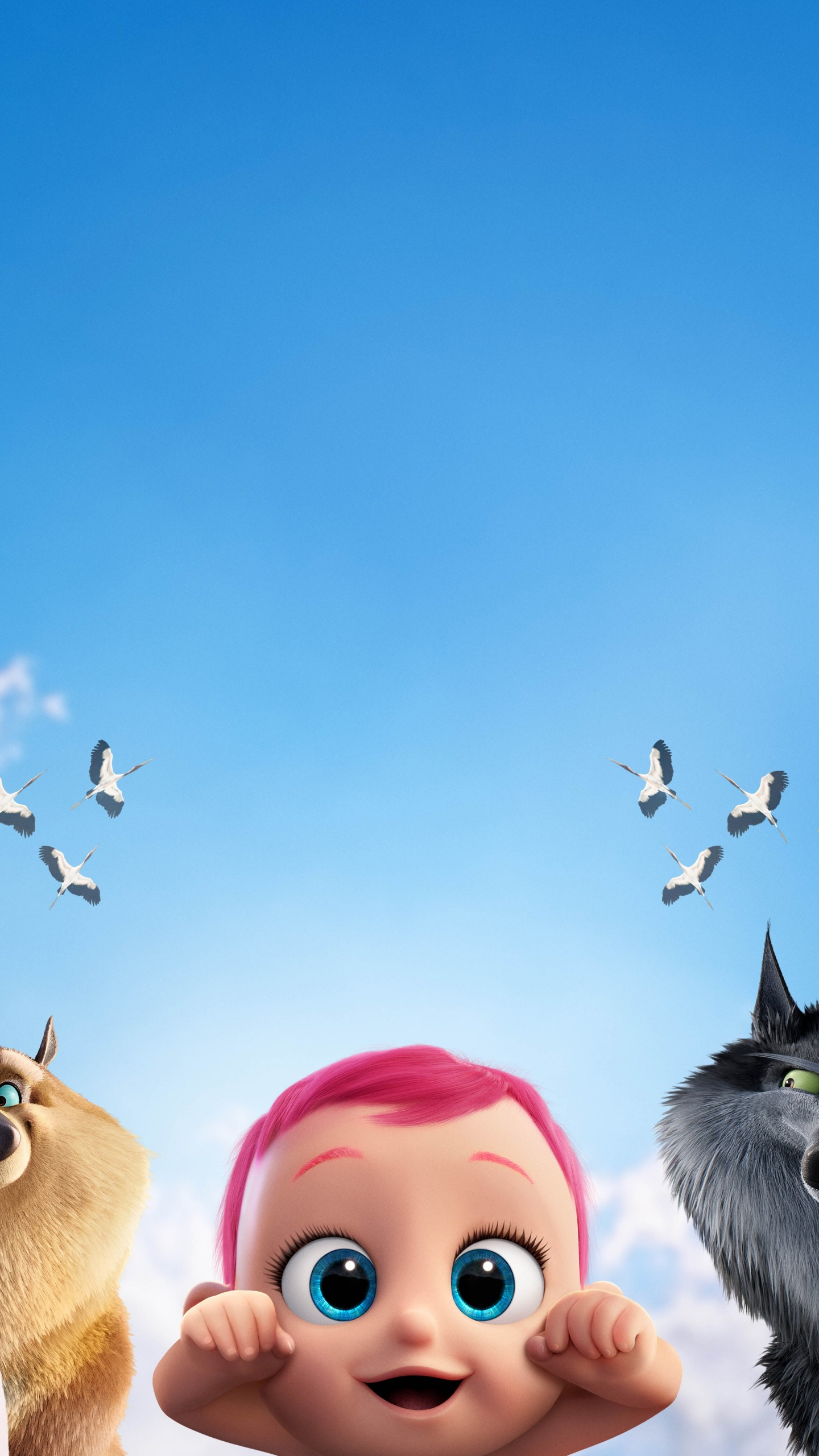Girly Wallpapers For Iphone Lock Screen Wallpaper Storks Baby Eagle Wolf Best Animation Movies
