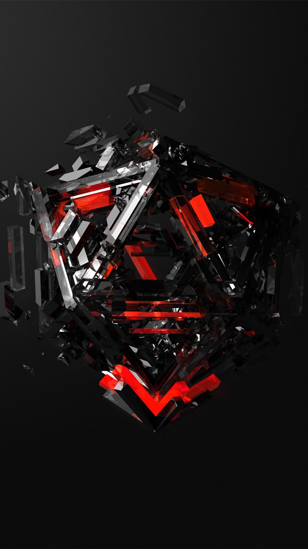 Spider Man 3d Live Wallpaper Wallpaper Triangles 3d Red Black Hd Abstract 16371