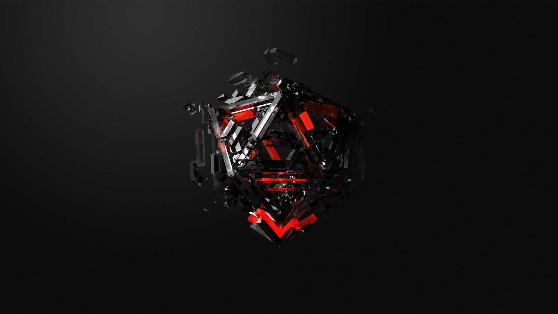 4k Live Wallpaper Iphone X Wallpaper Triangles 3d Red Black Hd Abstract 16371