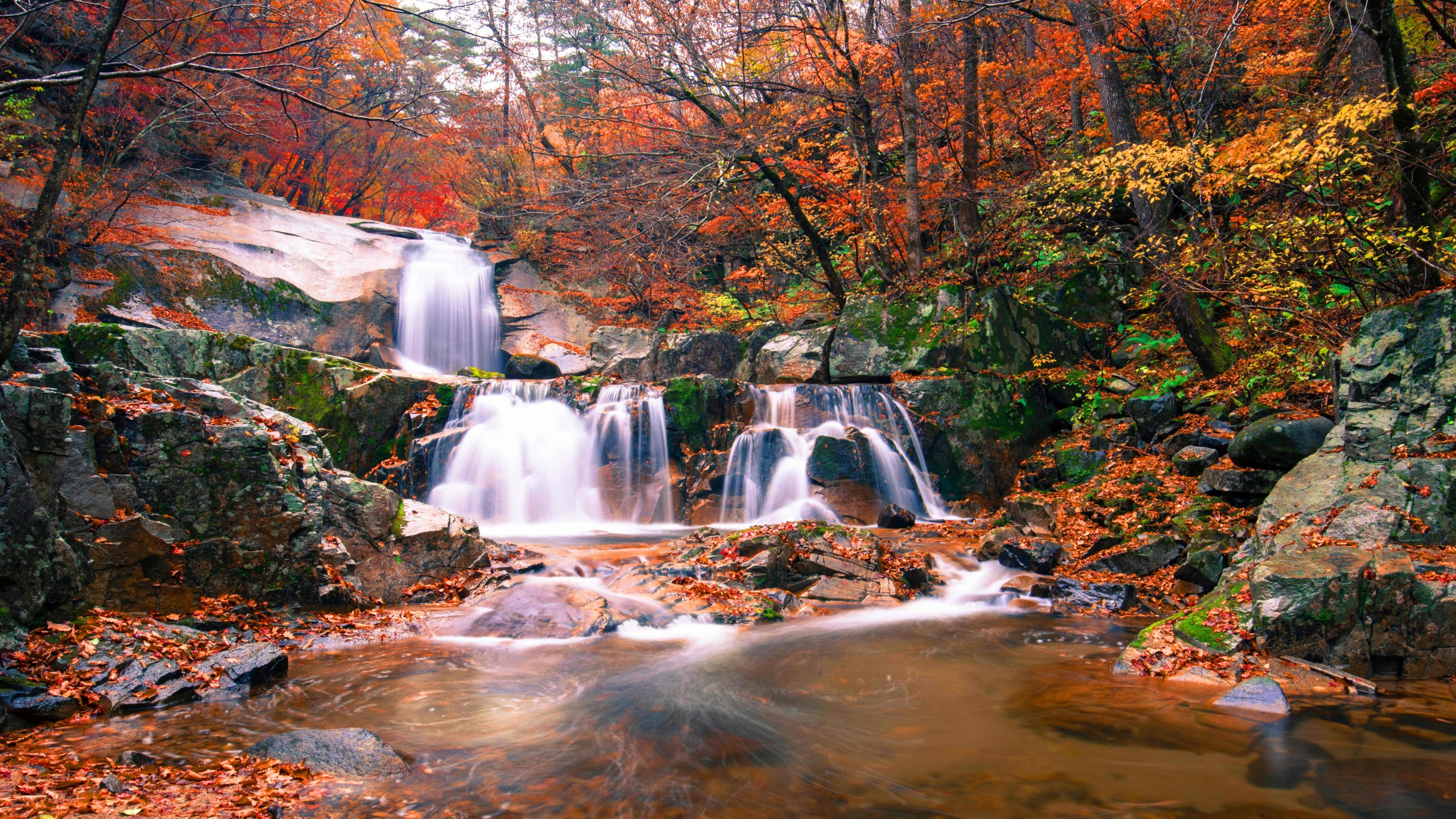 Fall Hills Wallpaper Wallpaper Waterfall Autumn 5k Nature 20234