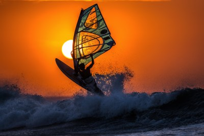 Wallpaper windsurfing, sunset, sky, sea, waves, Sport #11197